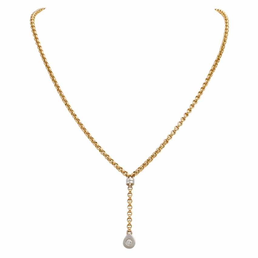 Y-necklace with a diamond of approx. 0.15 ct, - photo 1