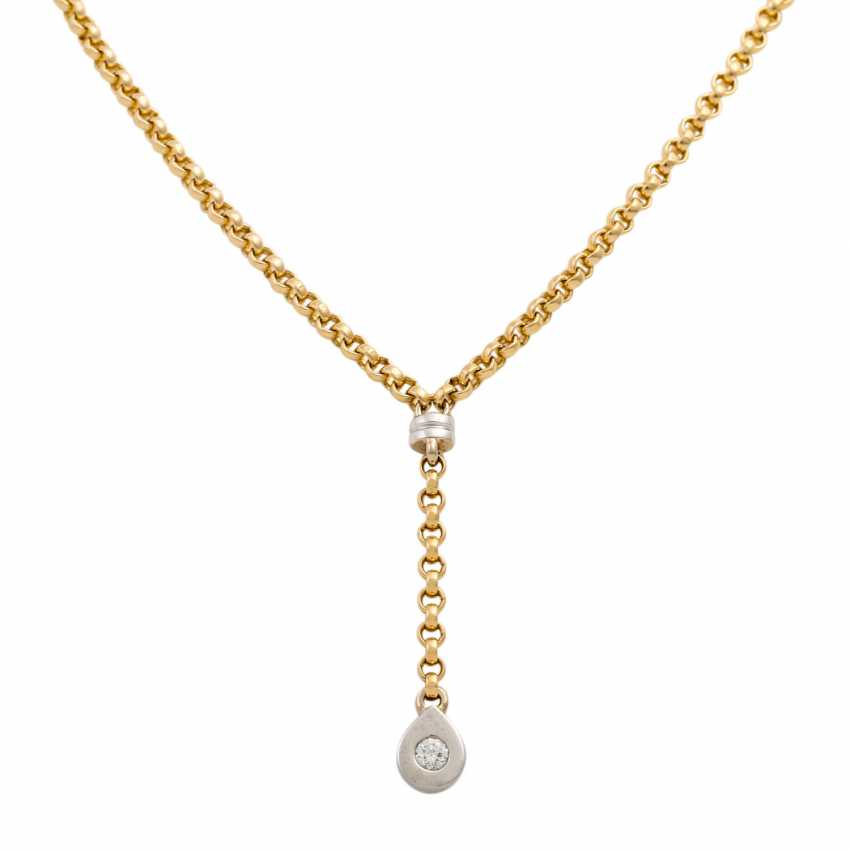 Y-necklace with a diamond of approx. 0.15 ct, - photo 2