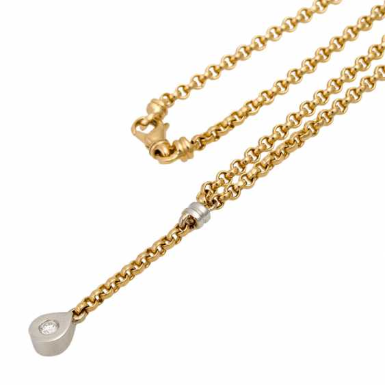 Y-necklace with a diamond of approx. 0.15 ct, - photo 4
