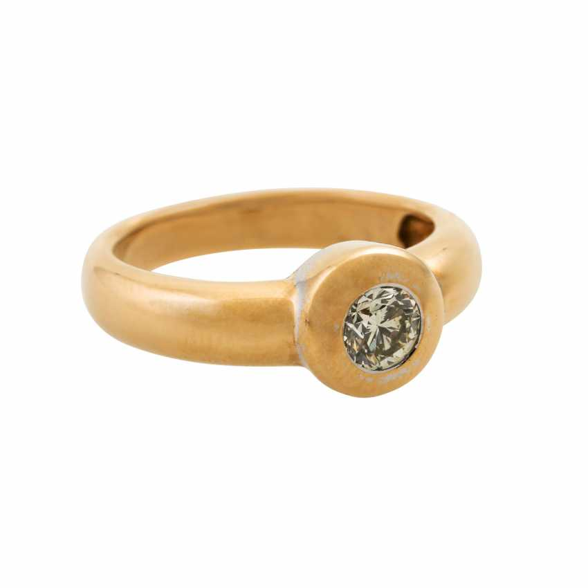 Solitaire ring with a diamond of approx. 0.5 ct, - photo 1