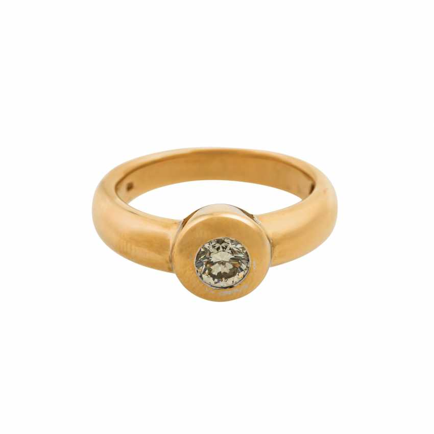 Solitaire ring with a diamond of approx. 0.5 ct, - photo 2