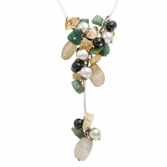 Necklace with precious stones - photo 2