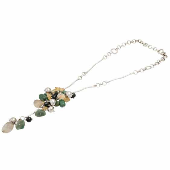 Necklace with precious stones - photo 3