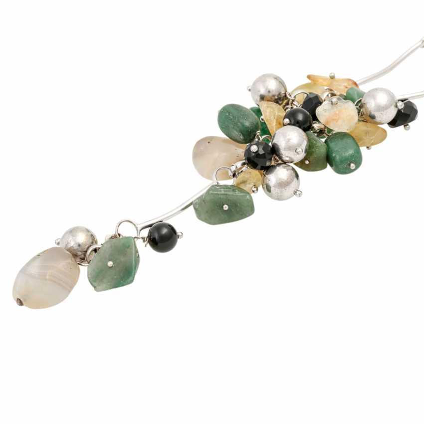 Necklace with precious stones - photo 4