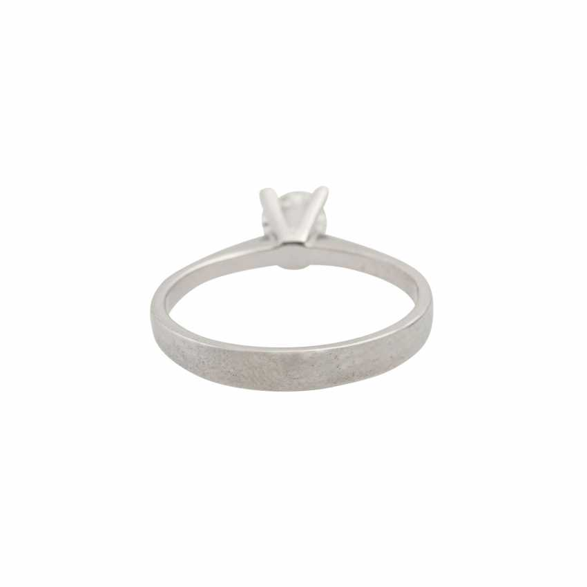 Solitaire ring with brilliant of approx. 0.43 ct (hallmarked), - photo 4