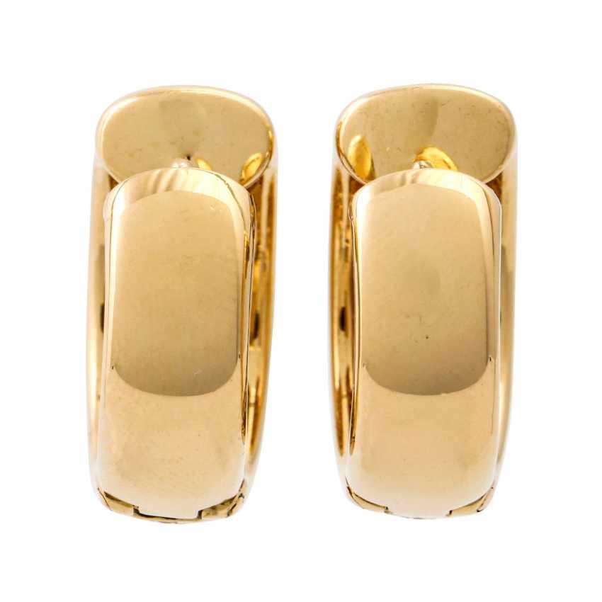 WEMPE pair of hoop earrings with rubies and diamonds - photo 2