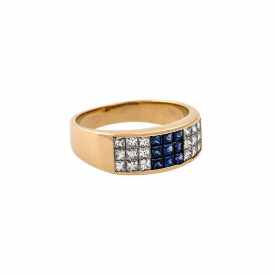 WEMPE ring with sapphires and diamonds - photo 1