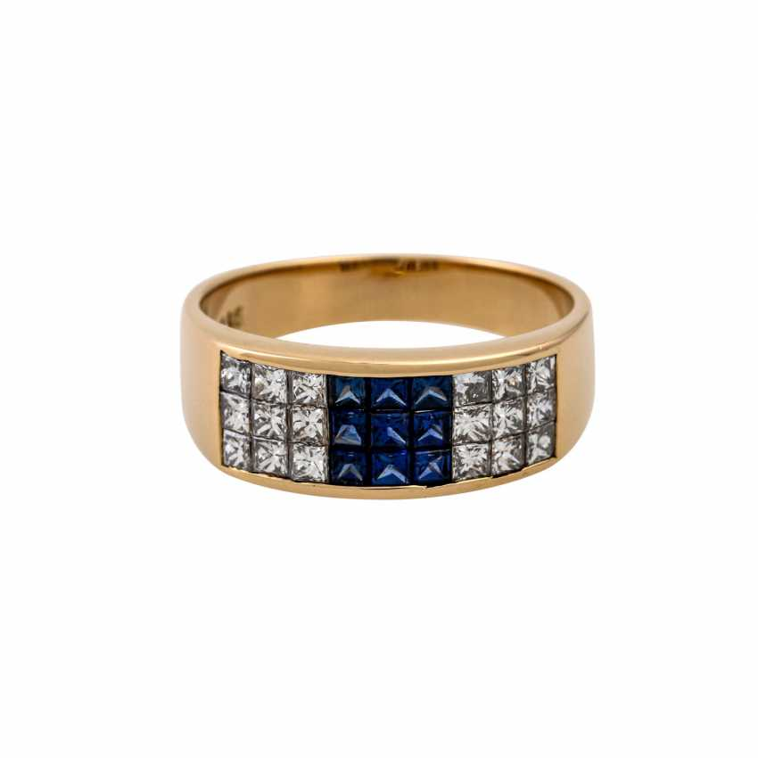 WEMPE ring with sapphires and diamonds - photo 2
