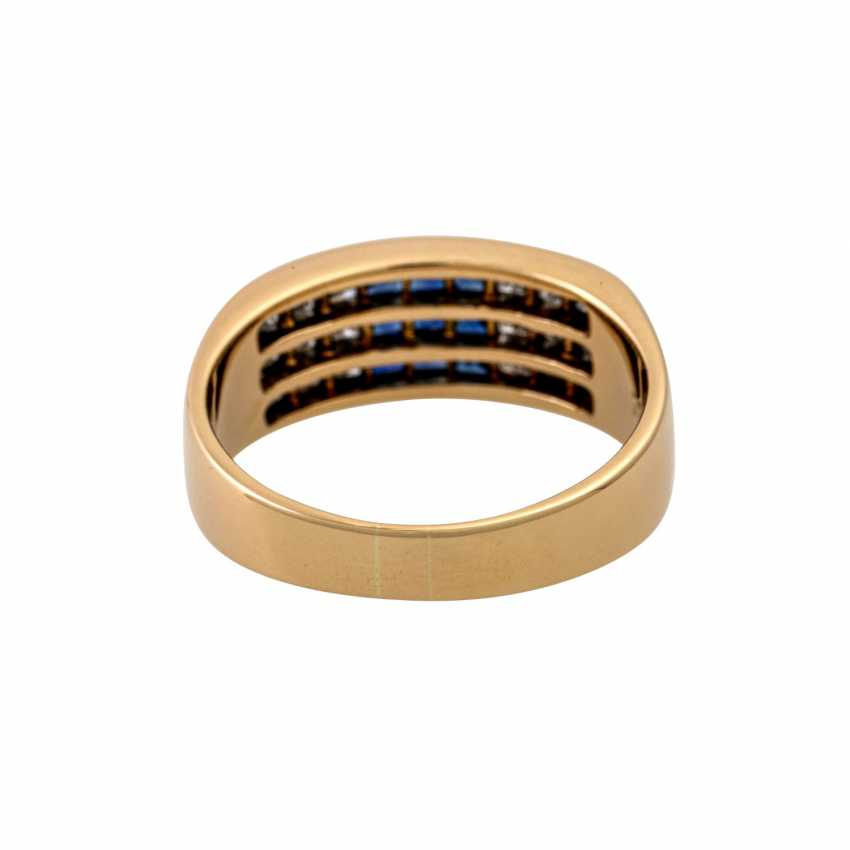 WEMPE ring with sapphires and diamonds - photo 4