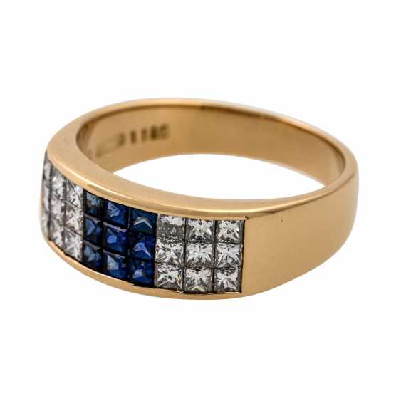 WEMPE ring with sapphires and diamonds - photo 5