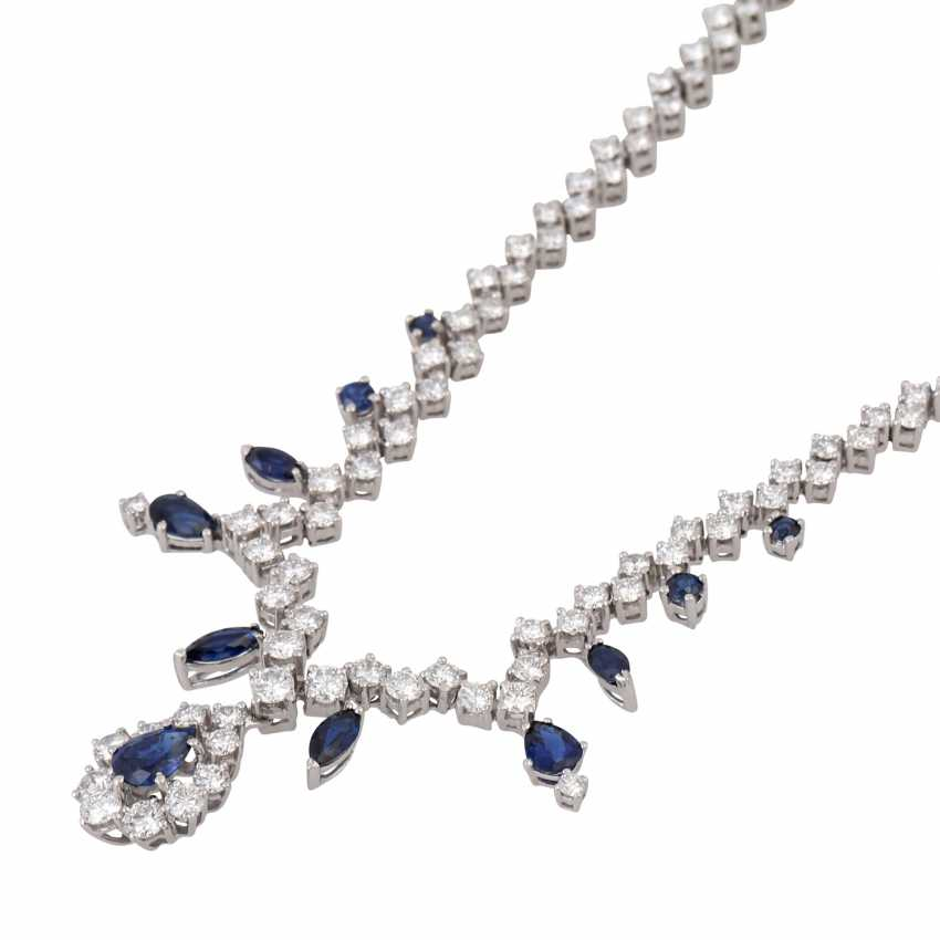 Collier with sapphires and approx. 100 brilliant-cut diamonds totaling approx. 6.05 ct - photo 4