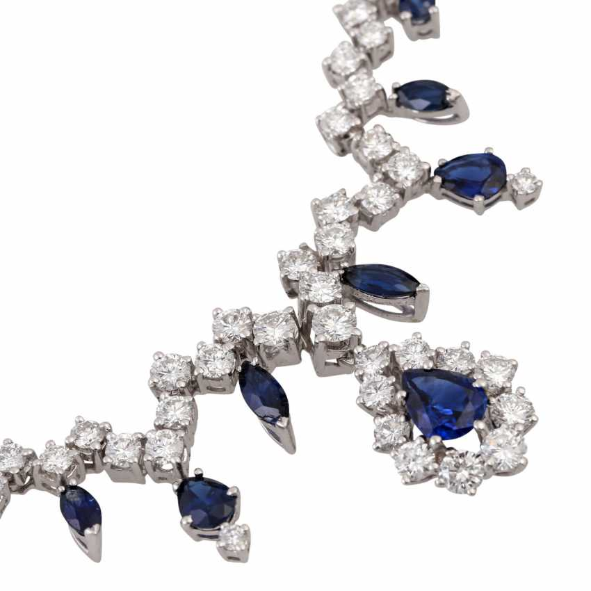 Collier with sapphires and approx. 100 brilliant-cut diamonds totaling approx. 6.05 ct - photo 5