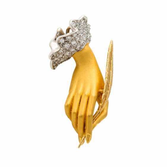 "CARRERA Y CARRERA pendant ""hand"" with diamonds - photo 2"