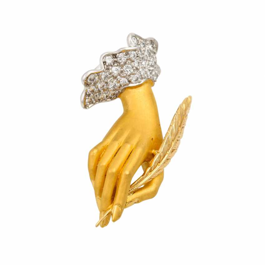 "CARRERA Y CARRERA pendant ""hand"" with diamonds - photo 4"