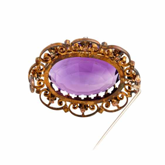 Brooch with faceted amethyst - photo 3