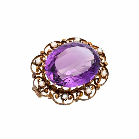 Brooch with faceted amethyst - photo 4