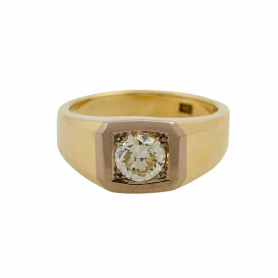 Solitaire ring with a diamond of approx. 0.9 ct, - photo 2