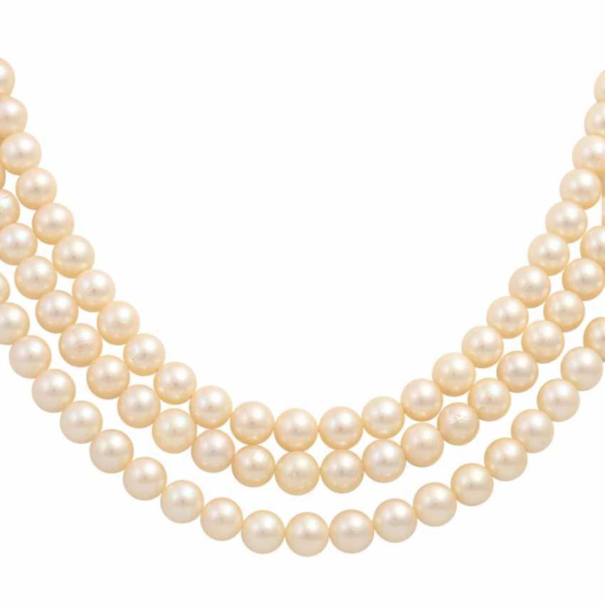 Akoya pearl necklace and bracelet set, - photo 3