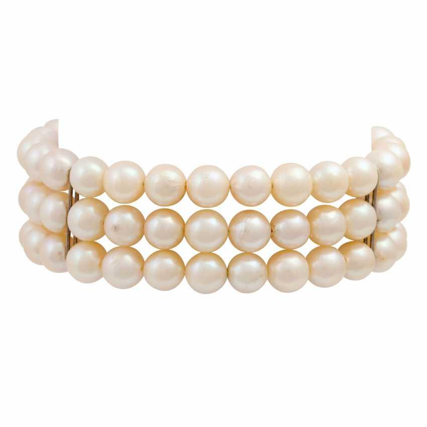 Akoya pearl necklace and bracelet set, - photo 5