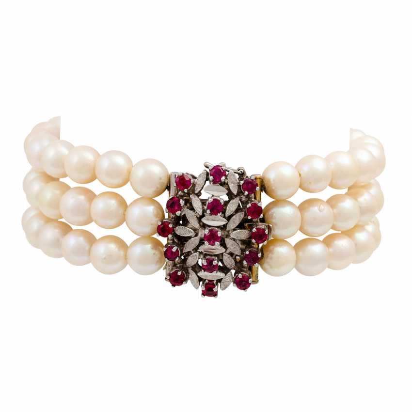 Akoya pearl necklace and bracelet set, - photo 6