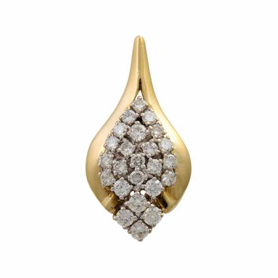 Pendant with diamonds totaling approx. 0.9 ct - photo 1