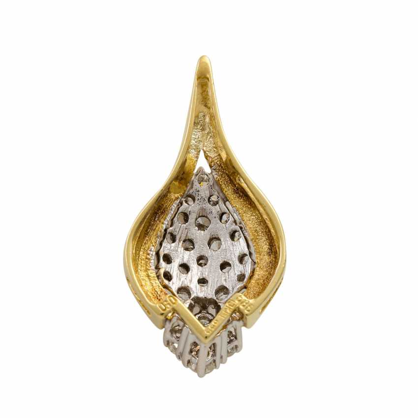 Pendant with diamonds totaling approx. 0.9 ct - photo 3
