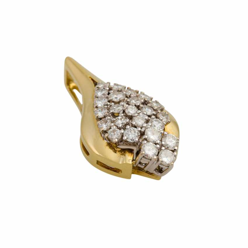 Pendant with diamonds totaling approx. 0.9 ct - photo 4