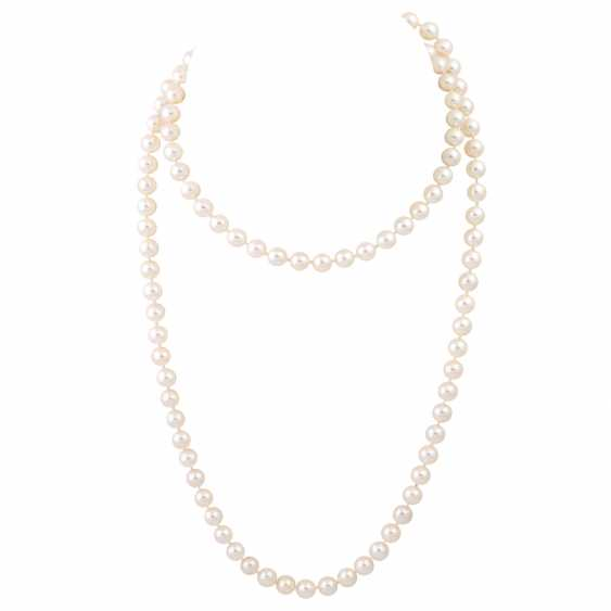 Sautoir made from fine Akoya cultured pearls - photo 1