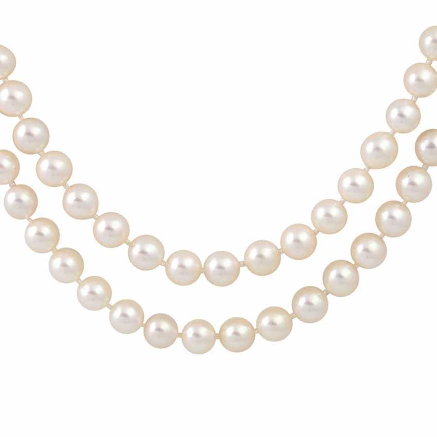 Sautoir made from fine Akoya cultured pearls - photo 2