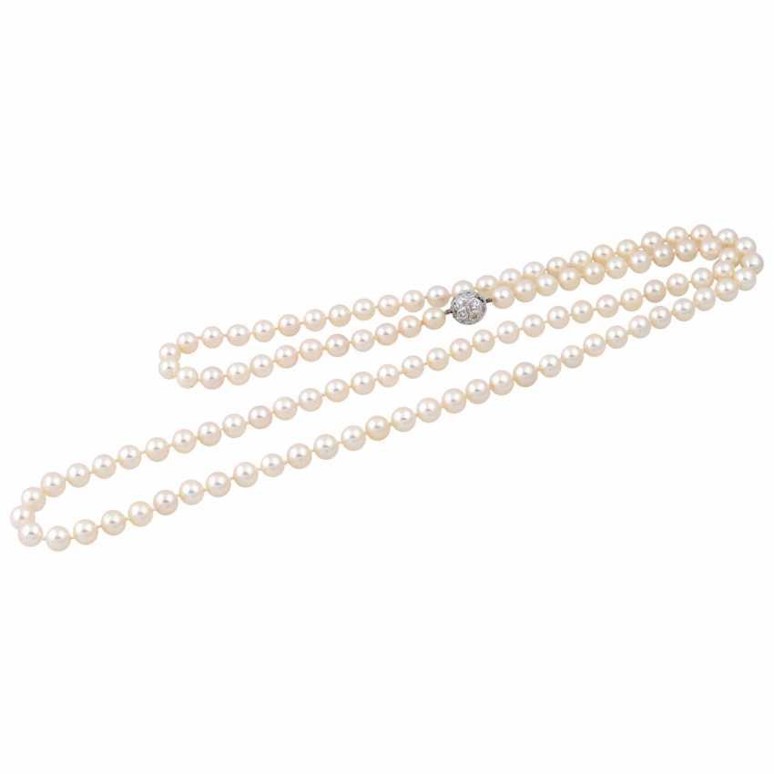 Sautoir made from fine Akoya cultured pearls - photo 3