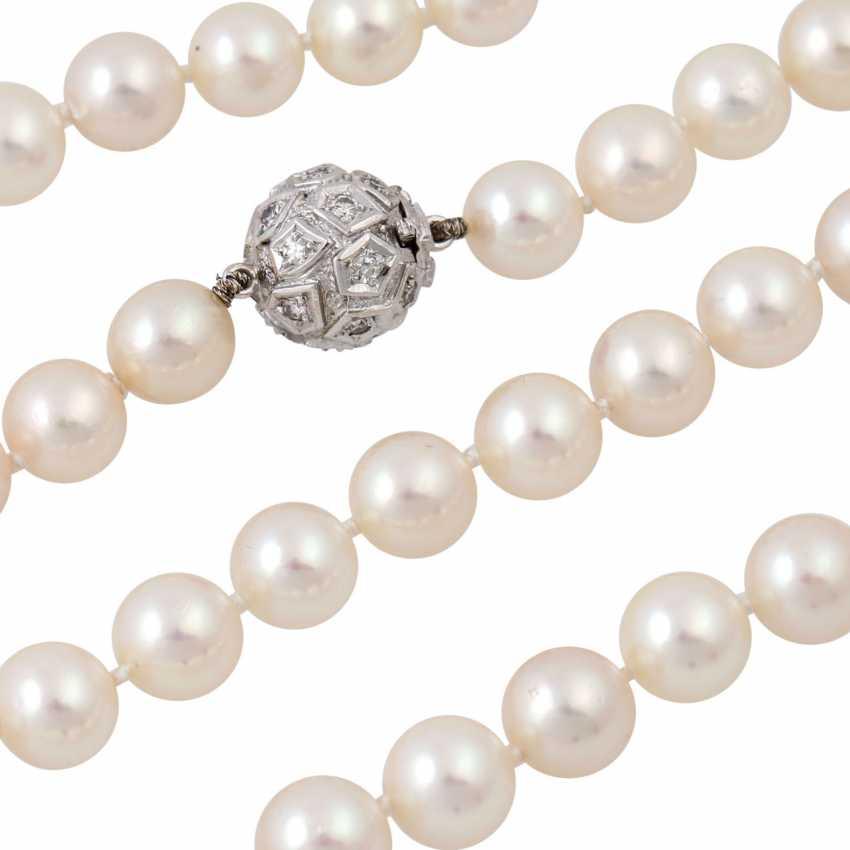 Sautoir made from fine Akoya cultured pearls - photo 4