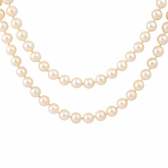 Sautoir made from Akoya cultured pearls, - photo 2