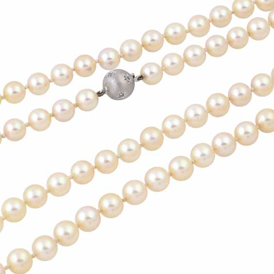 Sautoir made from Akoya cultured pearls, - photo 4