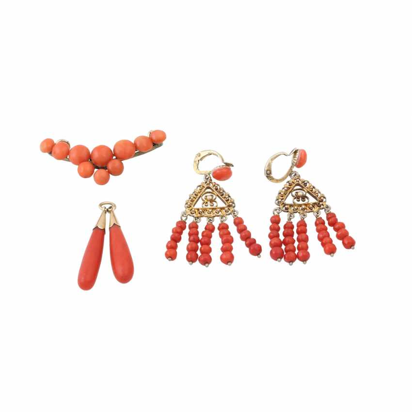 Mixed lot of coral jewelry - photo 2