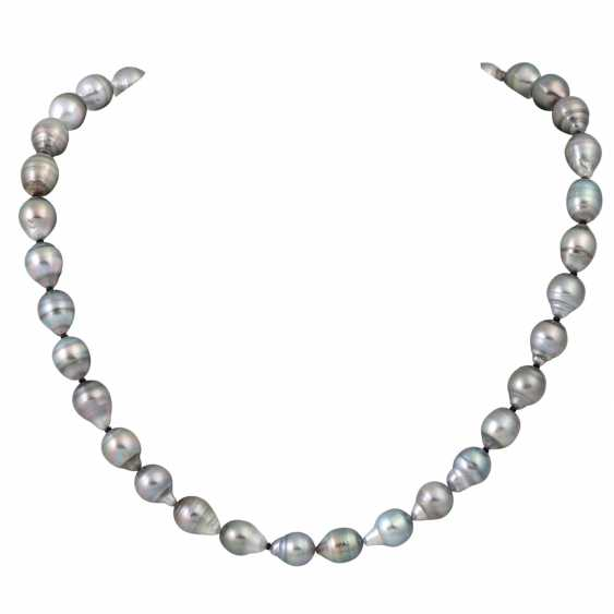 Tahitian pearl necklace, - photo 1