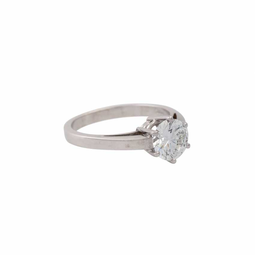 SCHOTT solitaire ring with brilliant approx. 1.4 ct, - photo 1