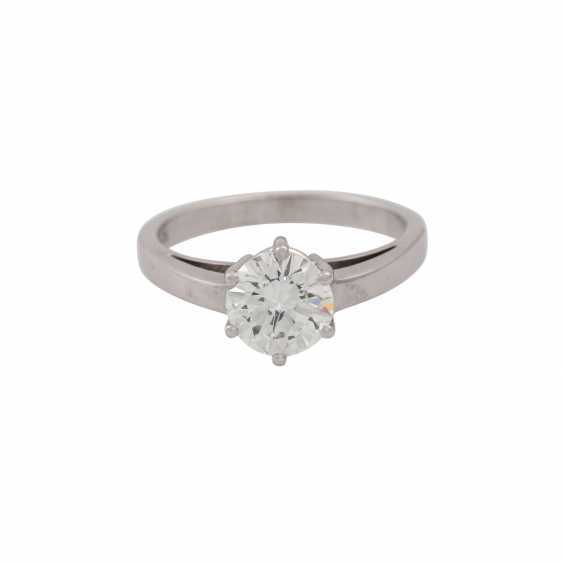 SCHOTT solitaire ring with brilliant approx. 1.4 ct, - photo 2