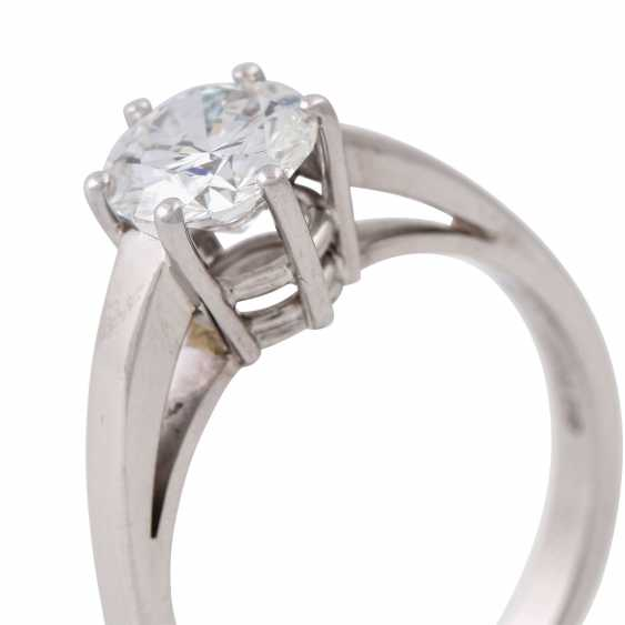 SCHOTT solitaire ring with brilliant approx. 1.4 ct, - photo 5
