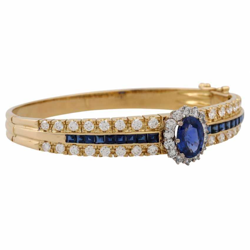 Bangle with sapphires and diamonds, - photo 2