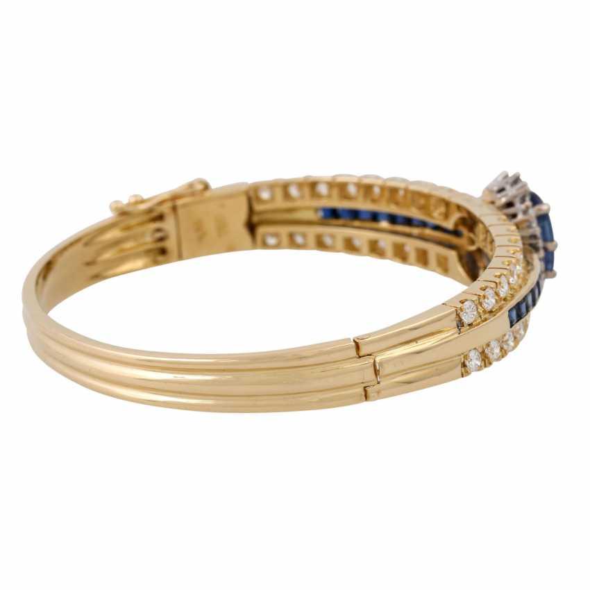 Bangle with sapphires and diamonds, - photo 3