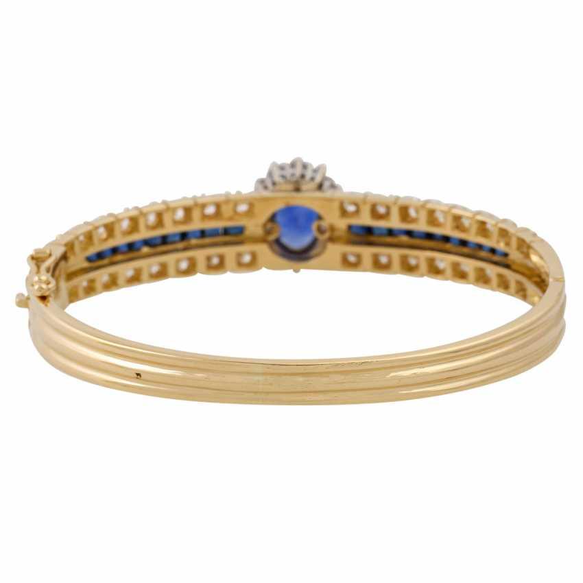 Bangle with sapphires and diamonds, - photo 4