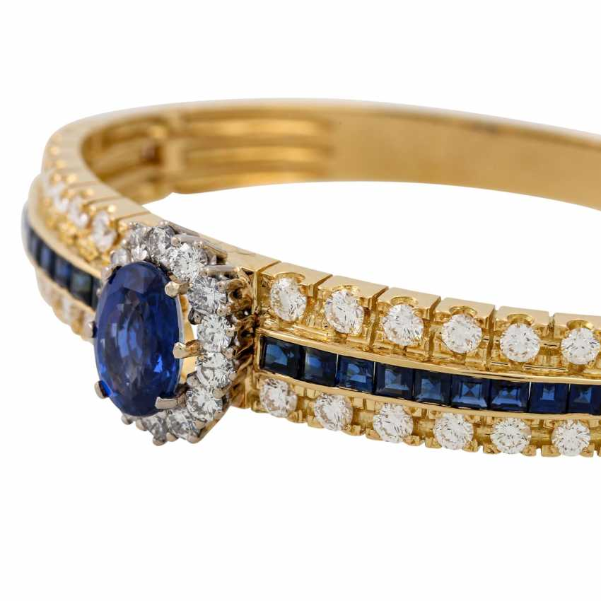 Bangle with sapphires and diamonds, - photo 5