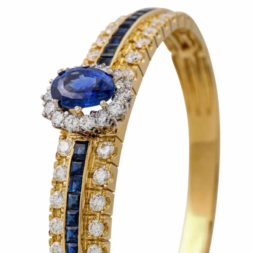 Bangle with sapphires and diamonds, - photo 6
