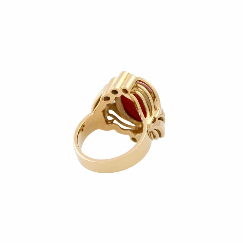 Solitaire ring with princess diamond of approx. 0.45 ct, - photo 3
