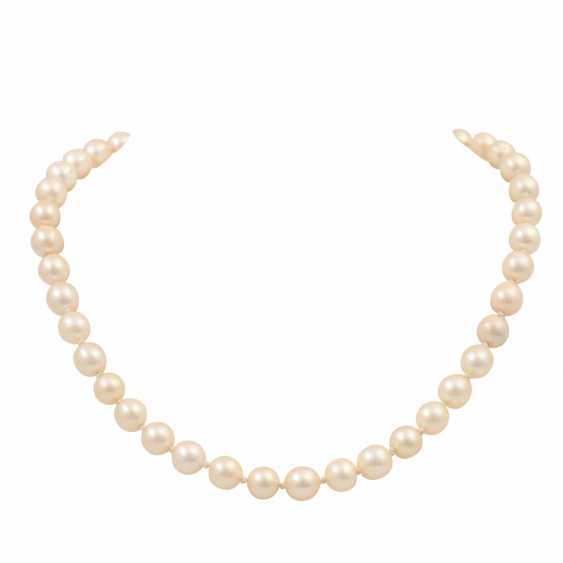 Akoya cultured pearl necklace, approx. 7-7.5 mm, - photo 1