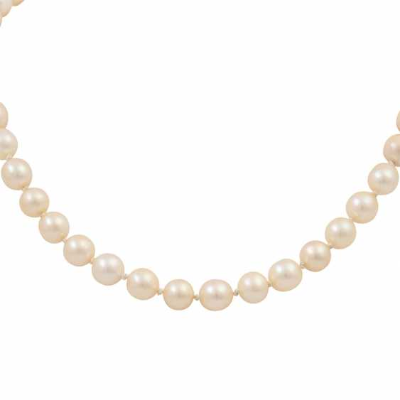 Akoya cultured pearl necklace, approx. 7-7.5 mm, - photo 2