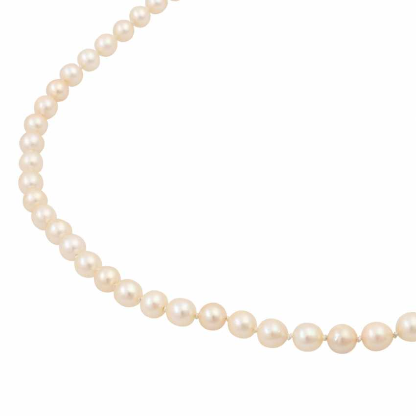 Akoya cultured pearl necklace, approx. 7-7.5 mm, - photo 4