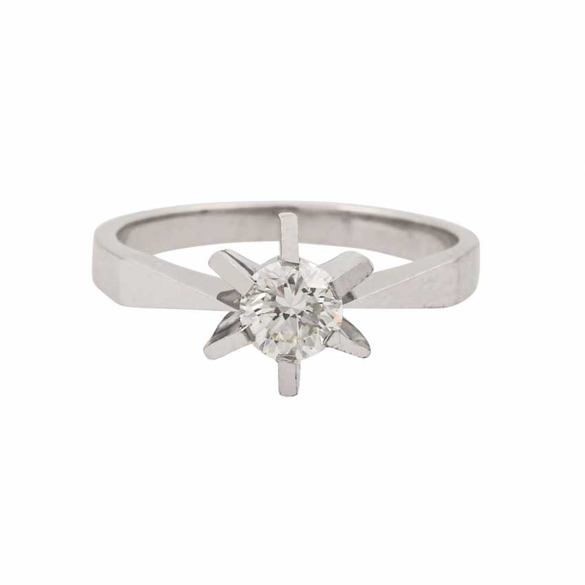 Ring with brilliant approx. 0.51 ct (engraved), - photo 2