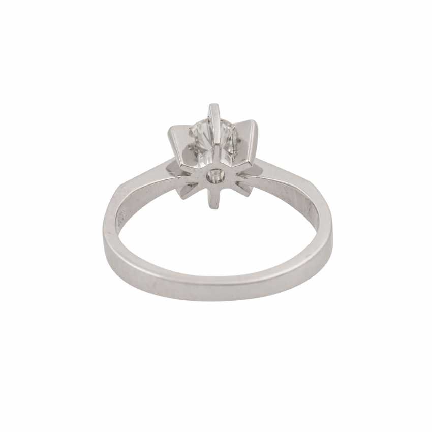 Ring with brilliant approx. 0.51 ct (engraved), - photo 4