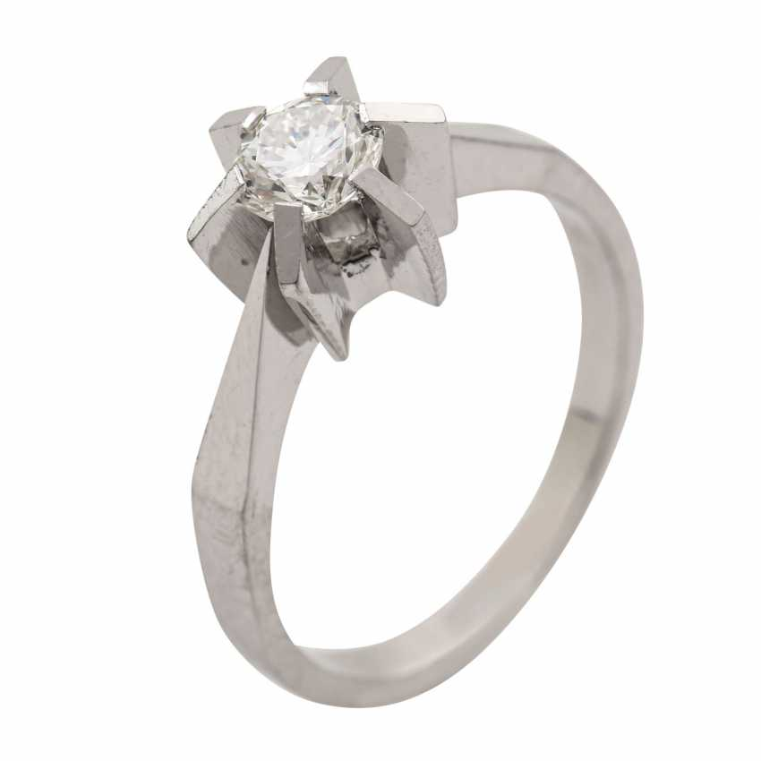 Ring with brilliant approx. 0.51 ct (engraved), - photo 5